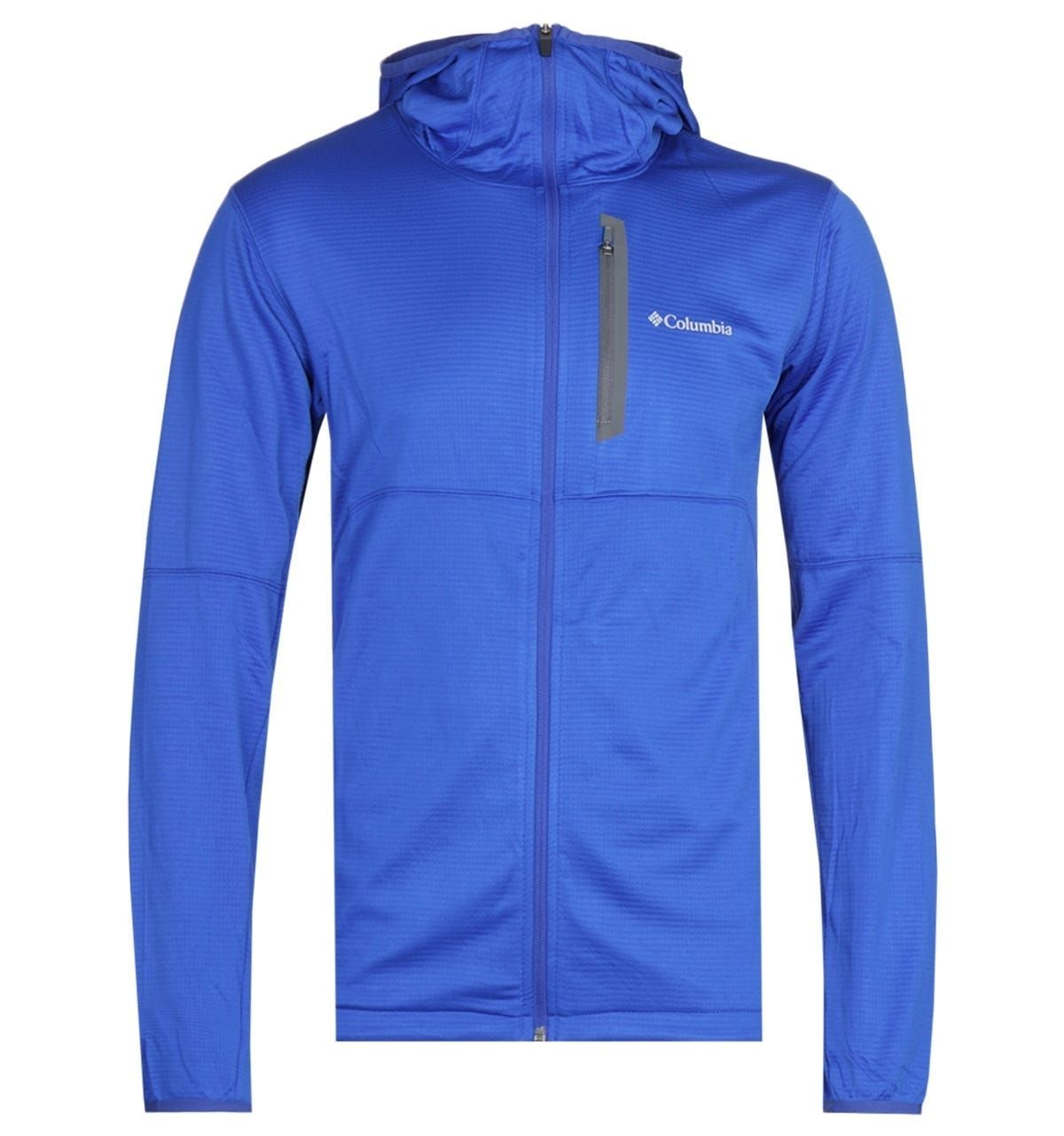 Columbia Tech Trial Lightweight Zip Through Electric Blue Hoodie
