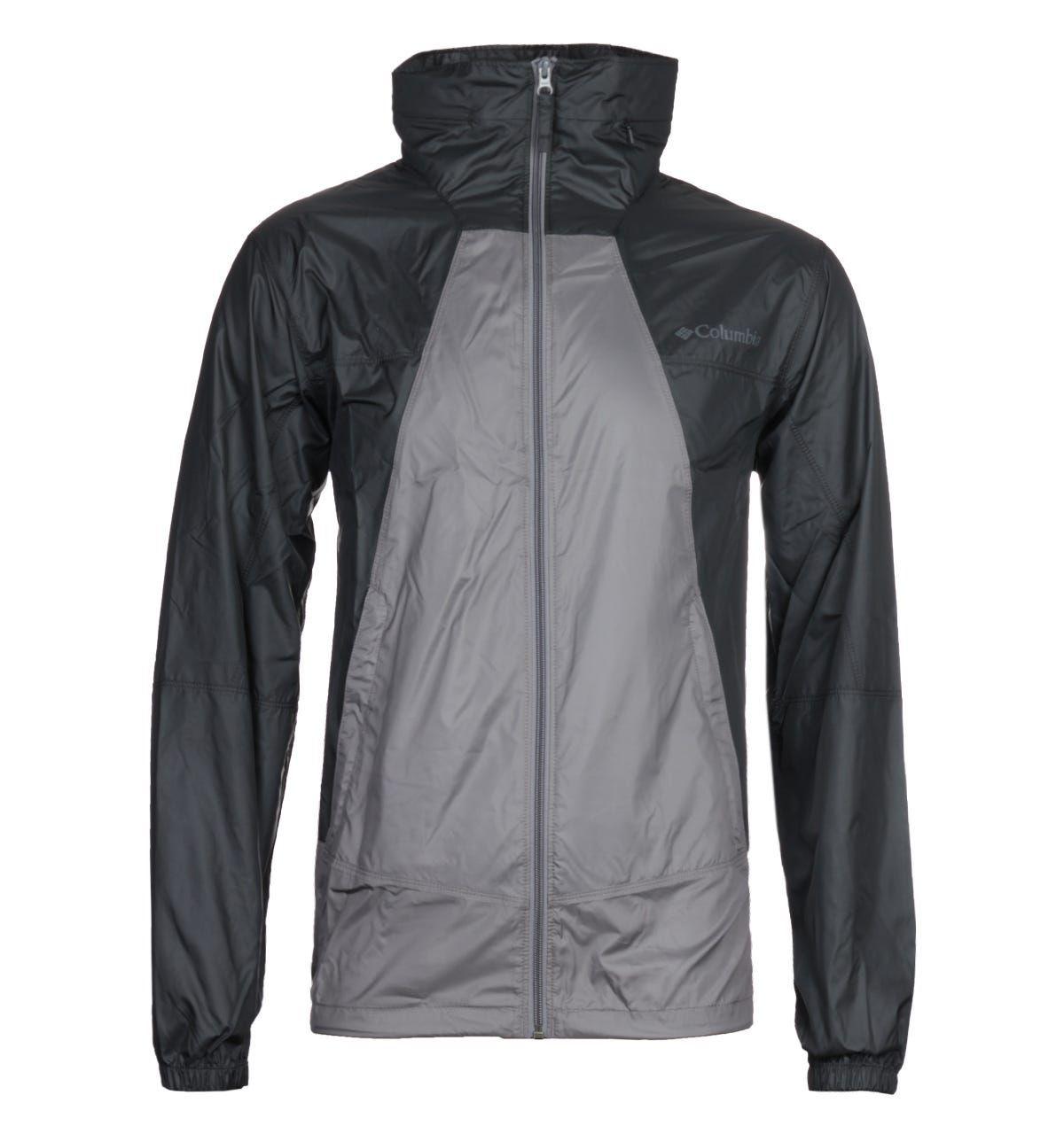 Columbia Grey & Black Point Park Windbreaker Jacket