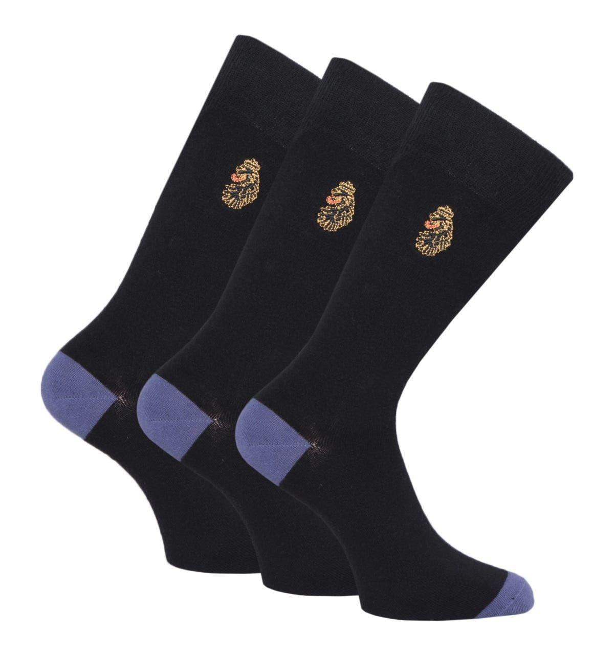Luke 1977 James 3 Pack Black Socks