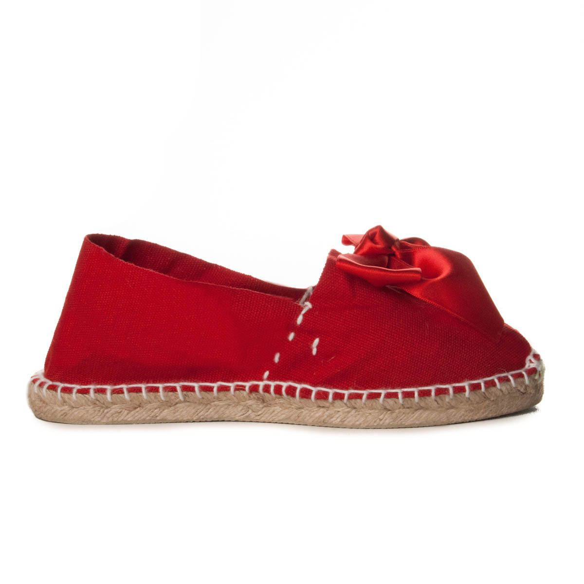 Maria Graor Bow Front Espadrille in Red