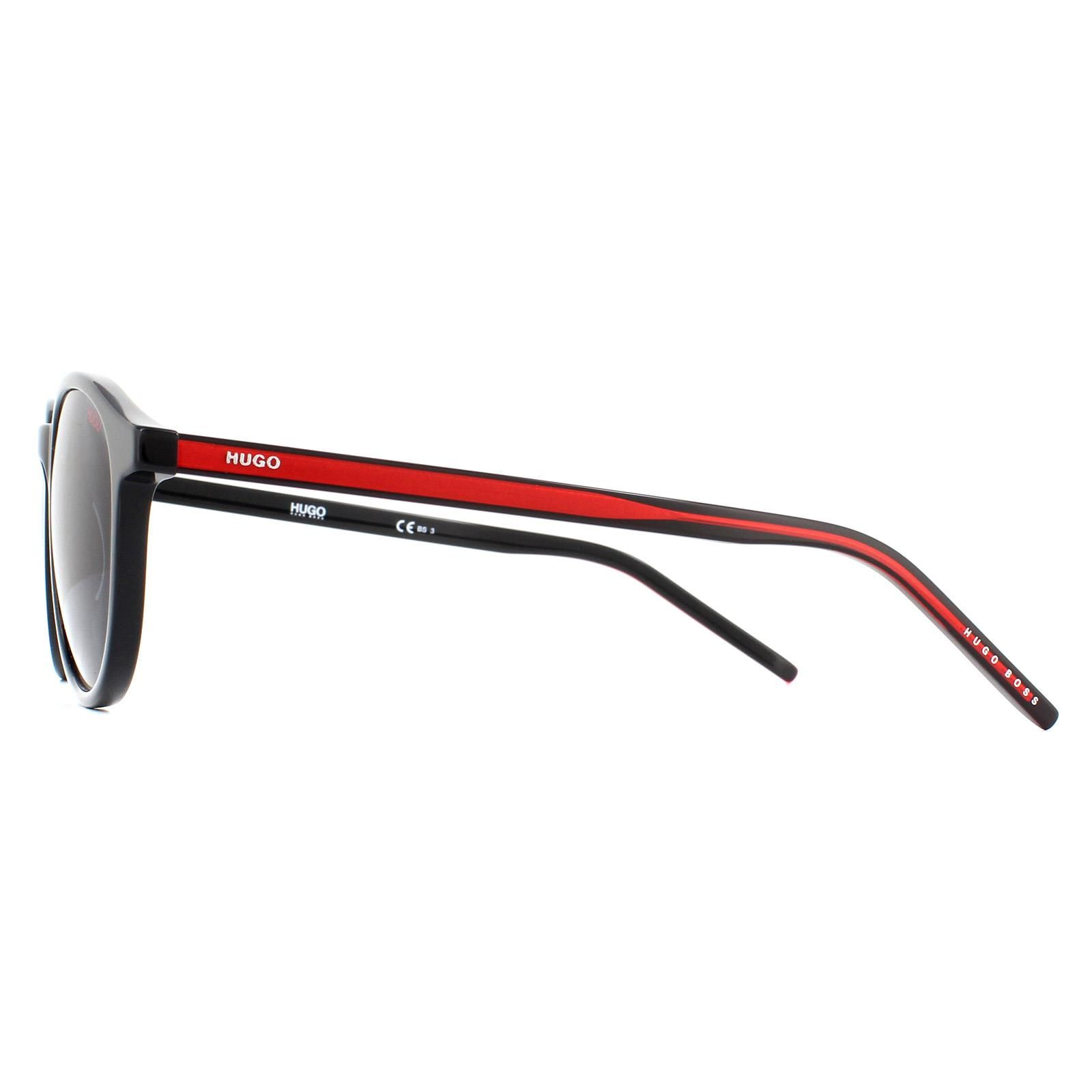 Hugo By Hugo Boss Sunglasses HG 1028/S OIT IR Black Red Grey