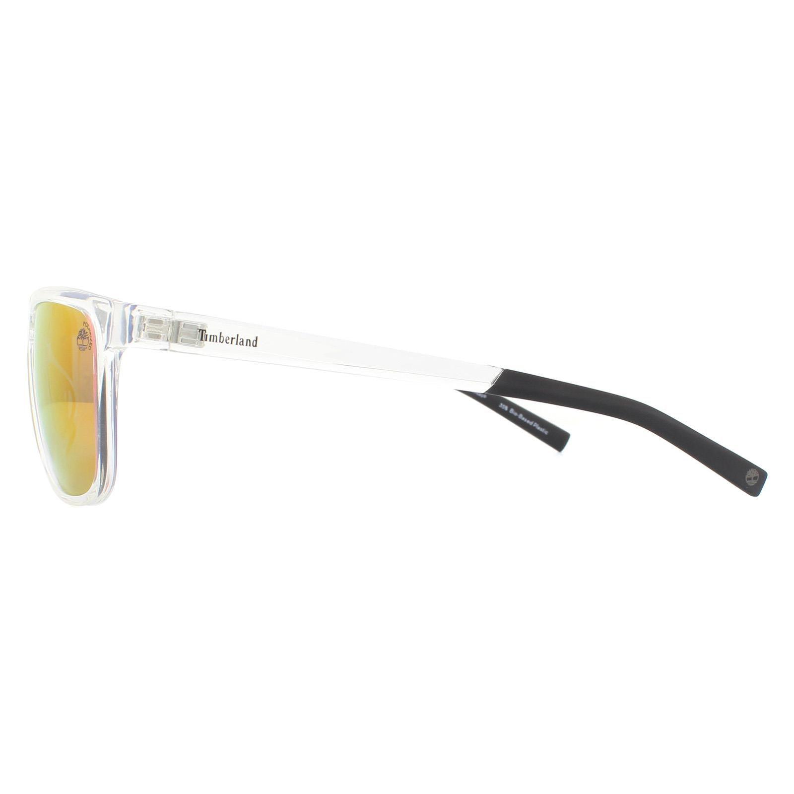 Timberland Sunglasses TB9162 26D Shiny Crystal Red Mirror Polarized