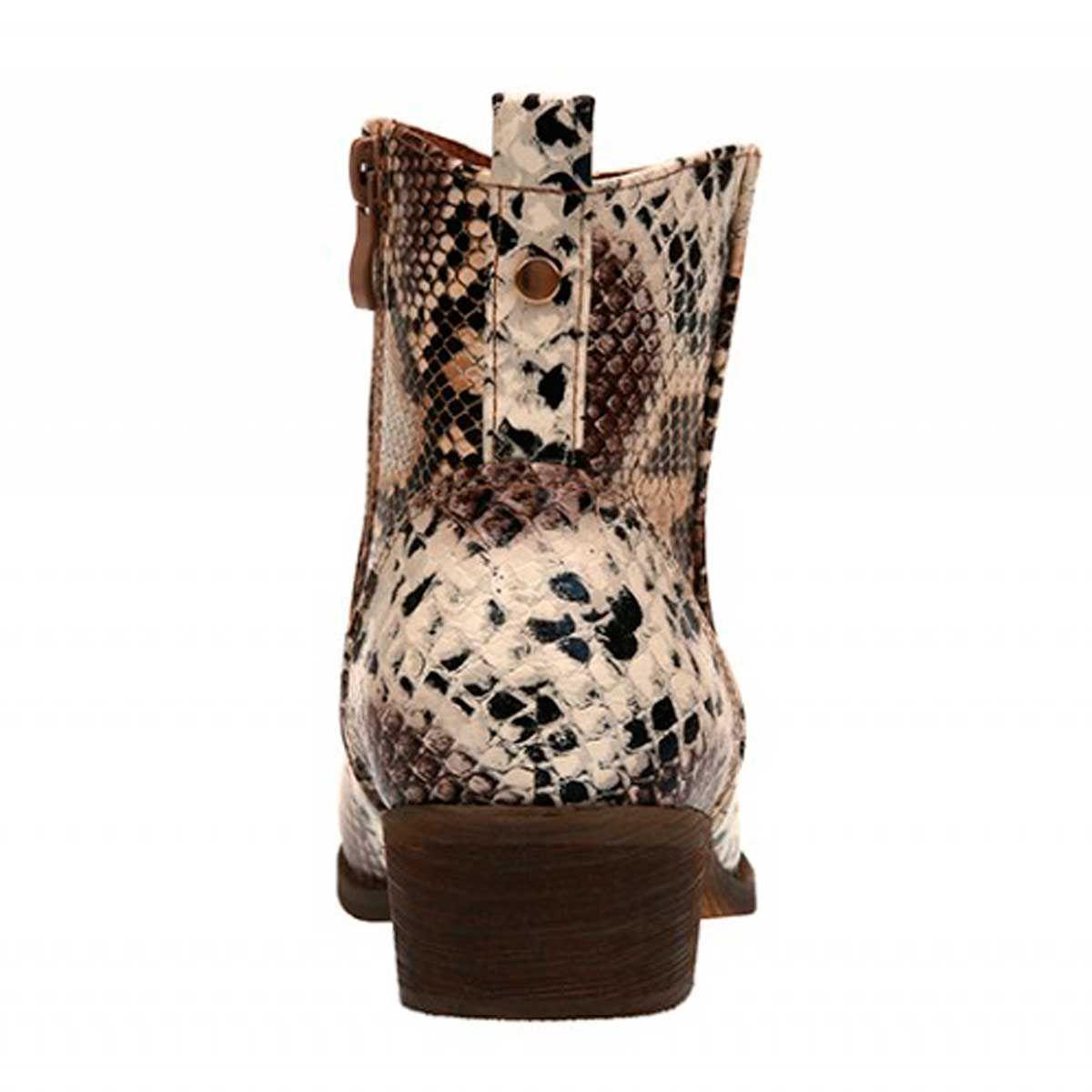 Montevita Flat Western Ankle Boot in Animal