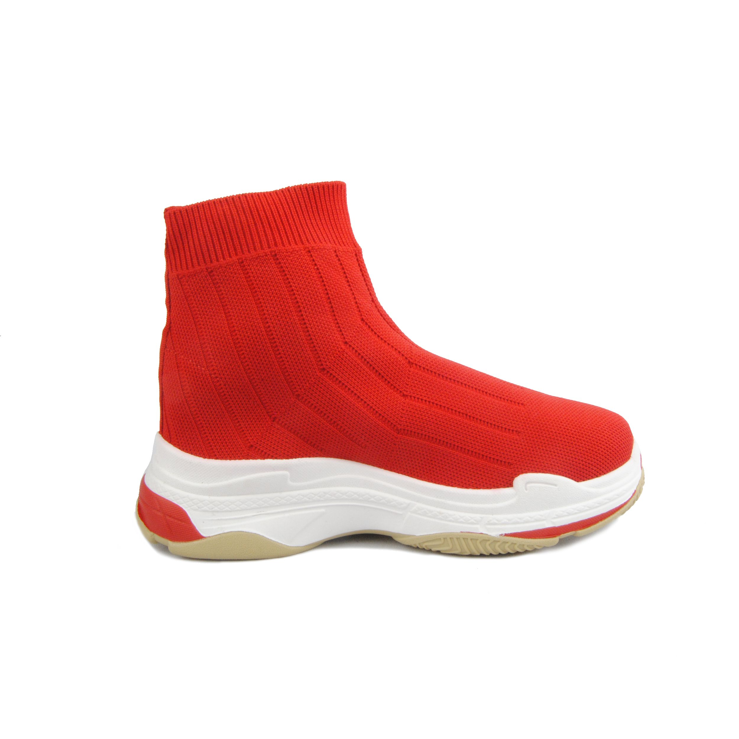 Montevita Chunky Sneaker Boot in Red