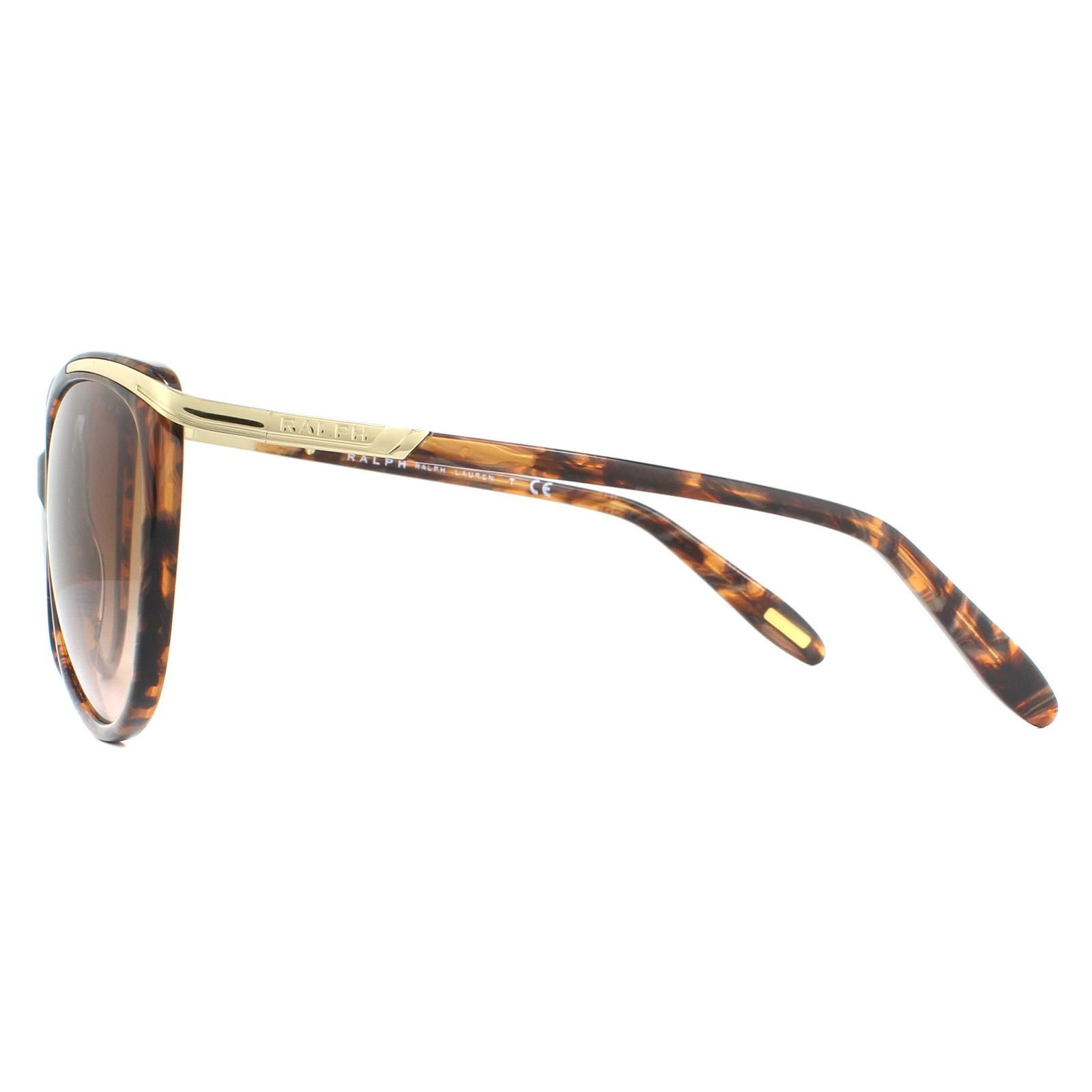 Ralph by Ralph Lauren Sunglasses 5150 573813 Shiny Brown Marble Pale Gold Brown Gradient