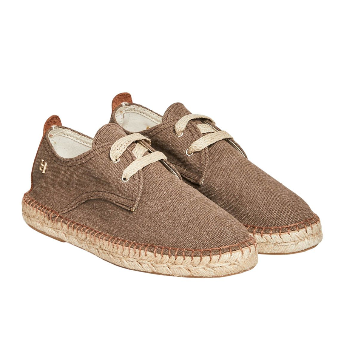 Leindia Lace Up Espadrille in Brown