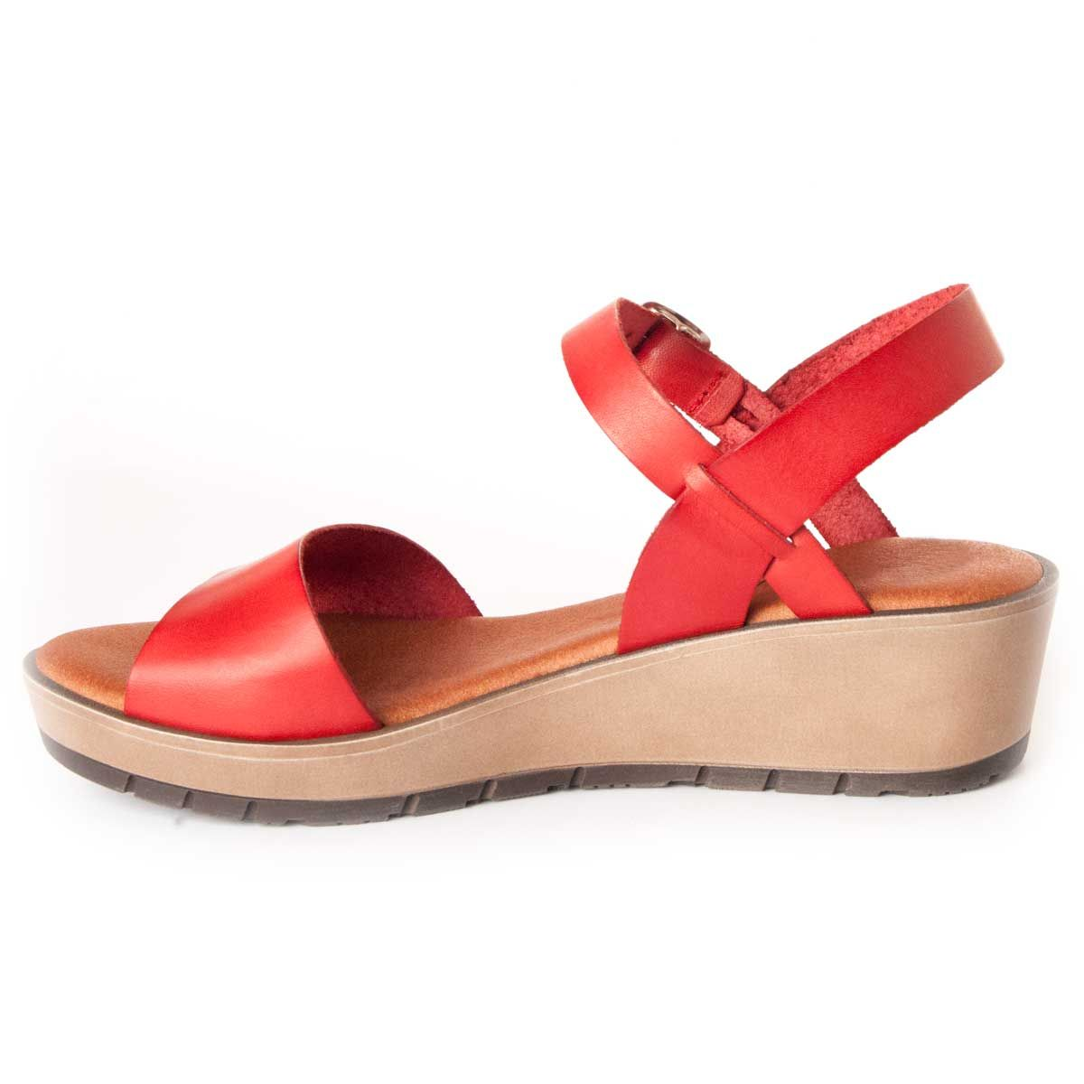 Purapiel Wedge Sandal in Red