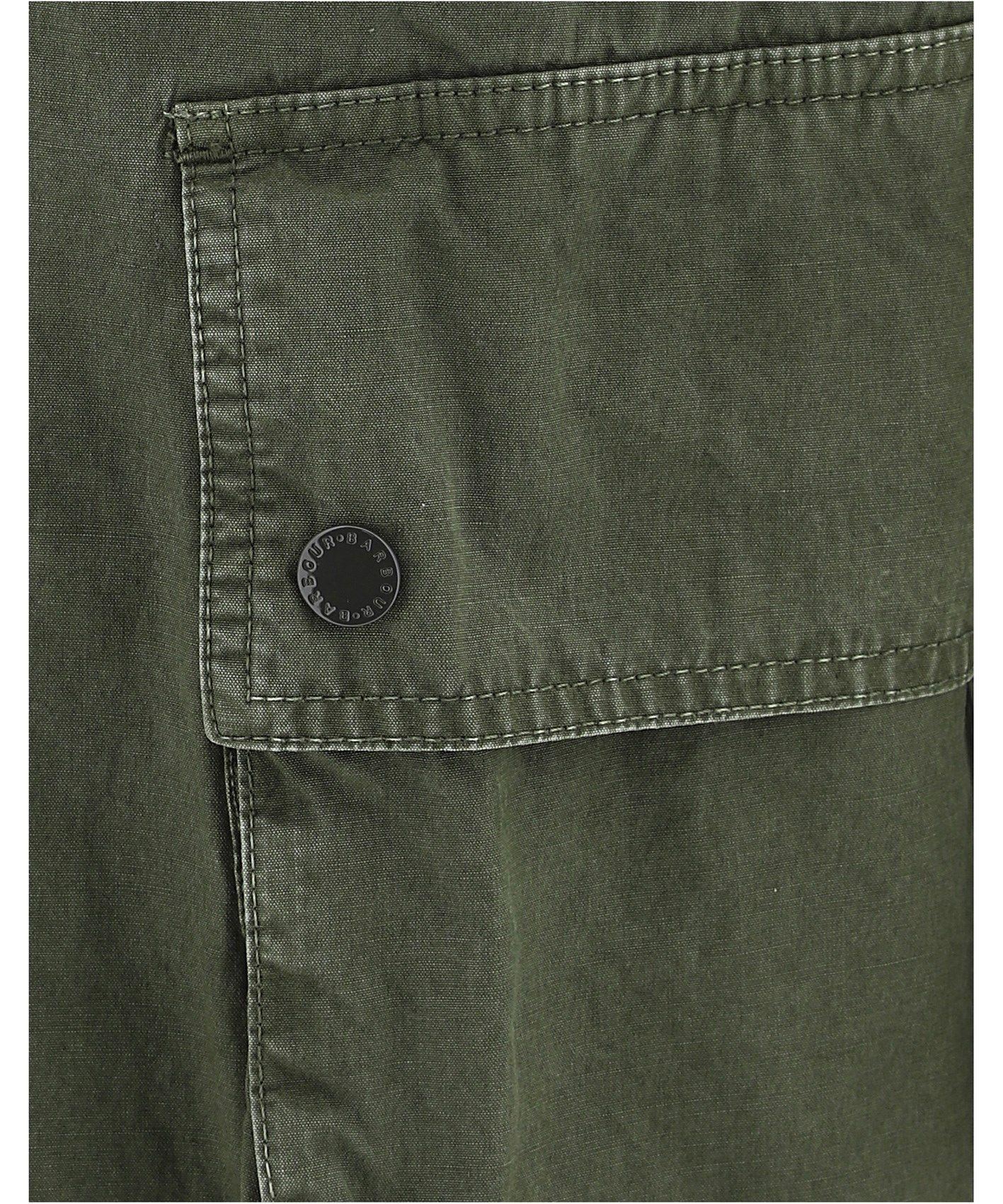 BARBOUR MEN'S BACPS21570L52 GREEN COTTON COAT