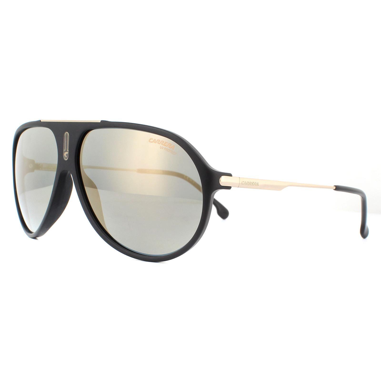 Carrera Sunglasses Hot 65 I46/JO Matte Black Gold Grey Bronze Mirrored