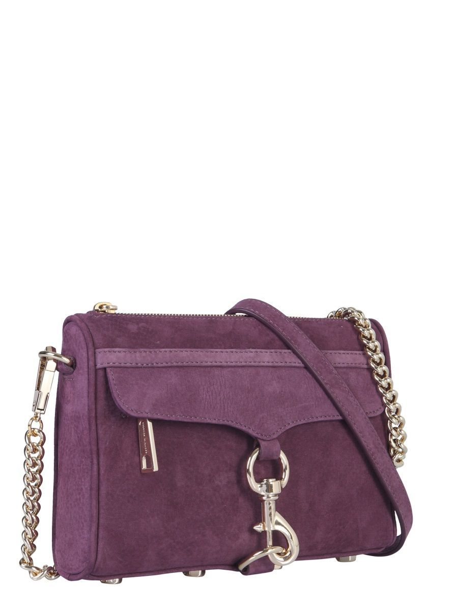 REBECCA MINKOFF WOMEN'S HH18INUX01505 PURPLE SUEDE SHOULDER BAG