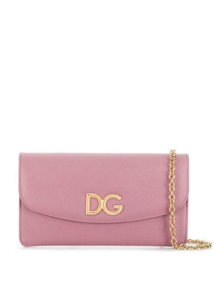DOLCE E GABBANA WOMEN'S BI0977AH3628H409 PINK LEATHER SHOULDER BAG