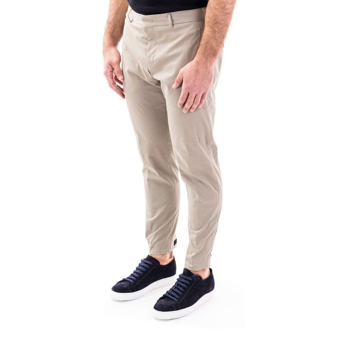 PT01 MEN'S COAS0JZ40KLTMP45040 BEIGE COTTON PANTS