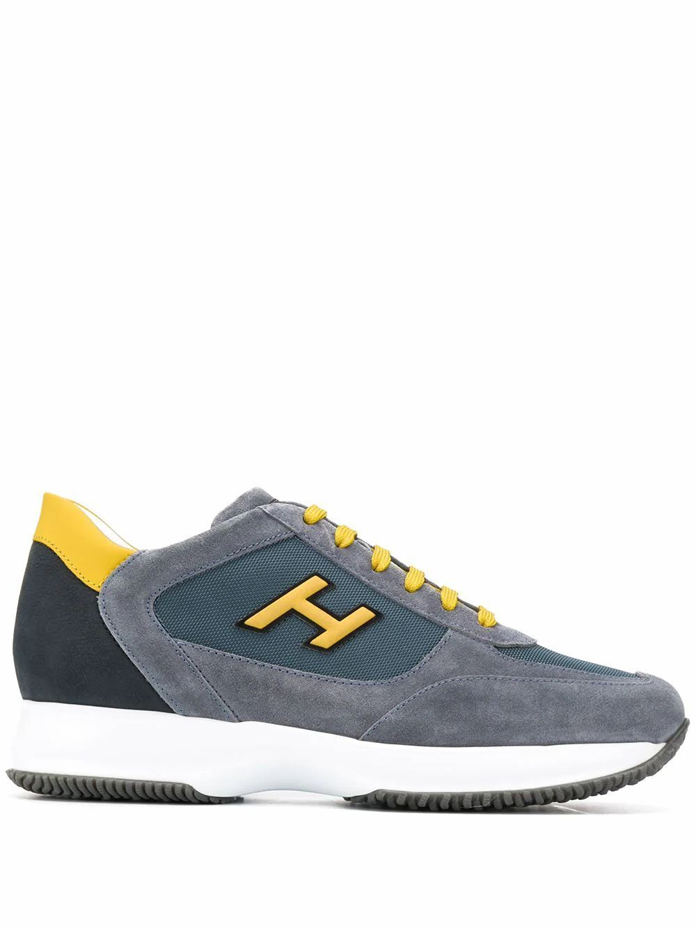 HOGAN MEN'S HXM00N0Q102N6Z50C0 GREY SUEDE SNEAKERS