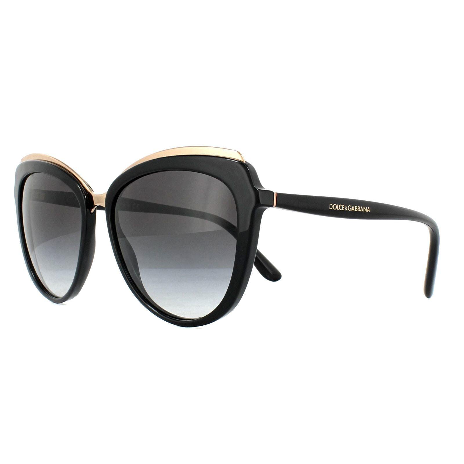 Dolce & Gabbana Sunglasses DG4304 501/8G Black Grey Gradient