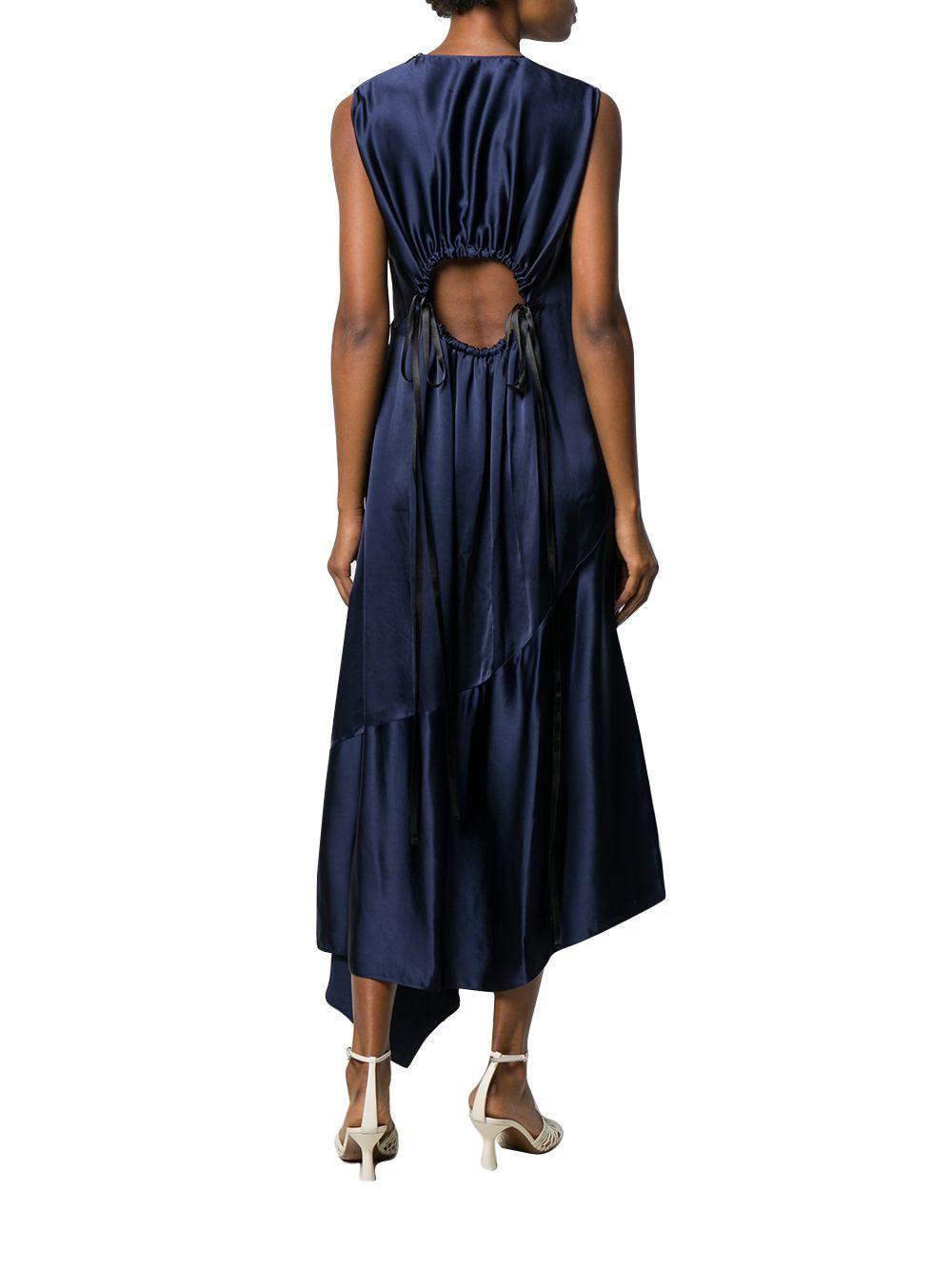 LOEWE WOMEN'S D2296620FA5110 BLUE VISCOSE DRESS