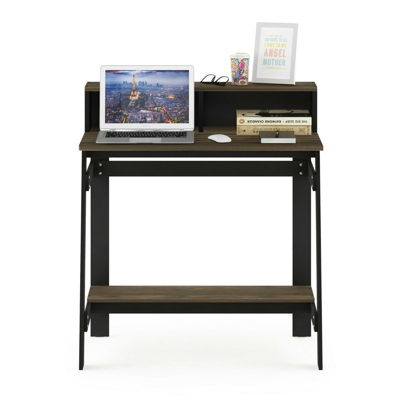 Furinno Simplistic A Frame Computer Desk, Columbia Walnut
