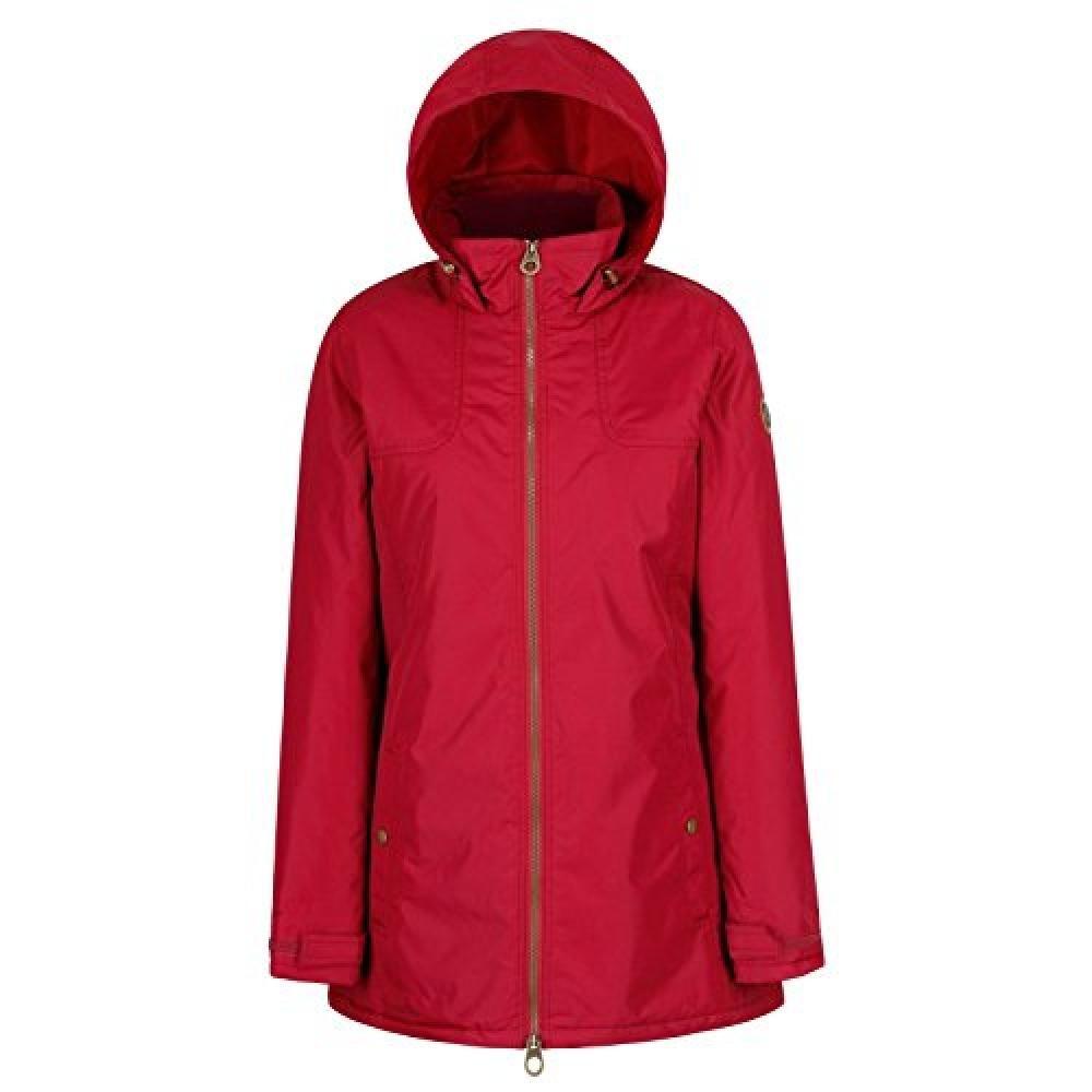Regatta Womens/Ladies Mylee Full Length Hooded Jacket (Rumba Red)