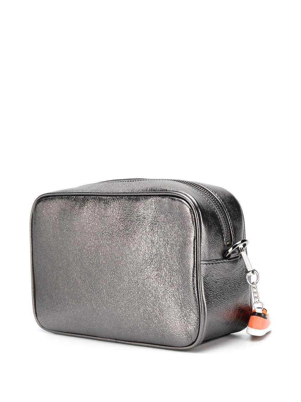 GOLDEN GOOSE WOMEN'S G36WA881D8 GREY LEATHER SHOULDER BAG