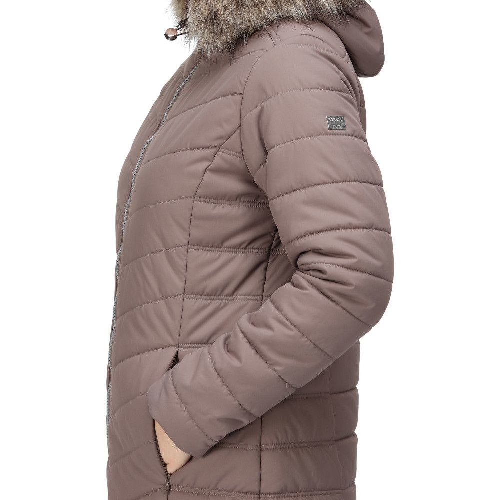 Regatta Womens Fritha Insulated Quilted Parka Coat Jacket