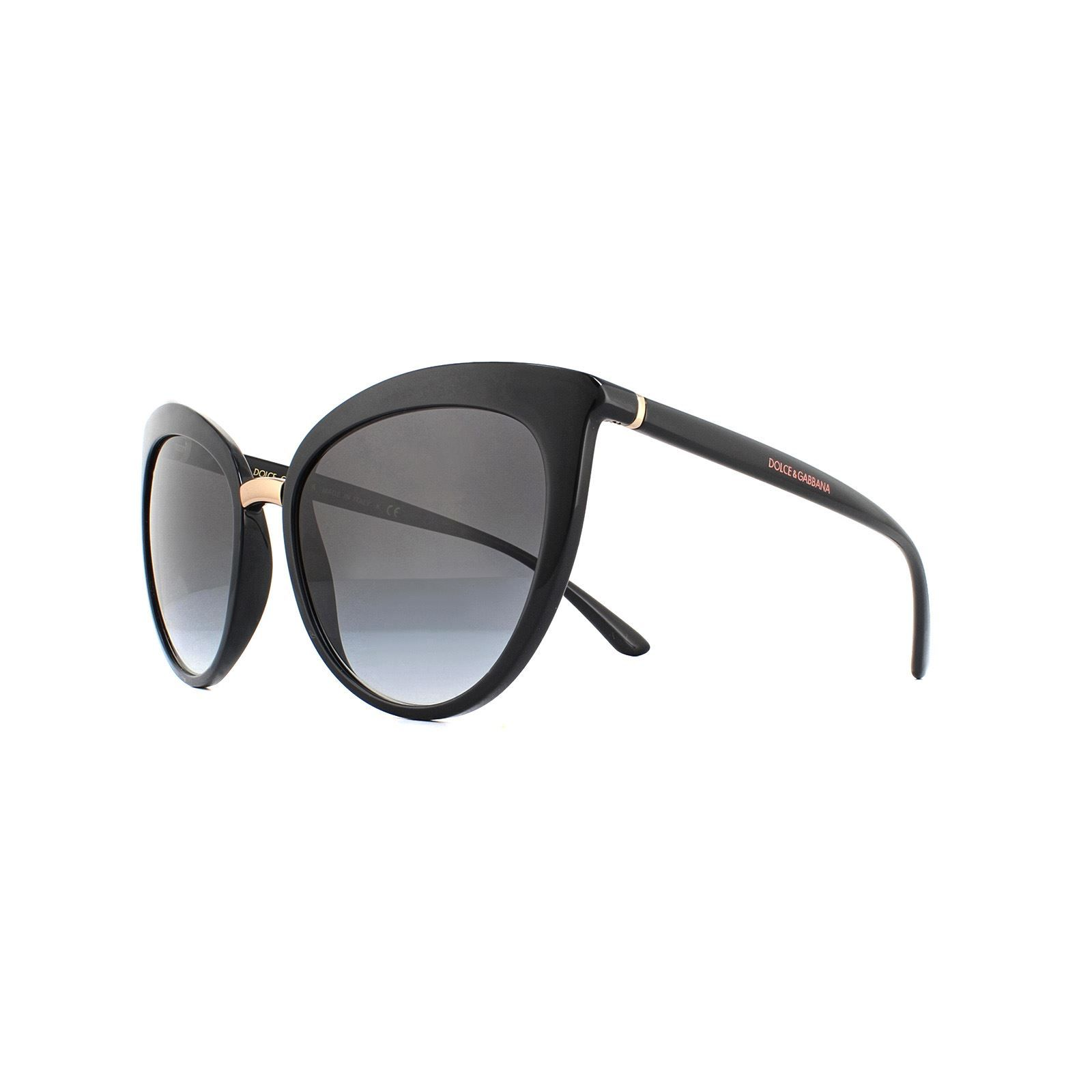 Dolce & Gabbana Sunglasses DG6113 501/8G Black Grey Gradient
