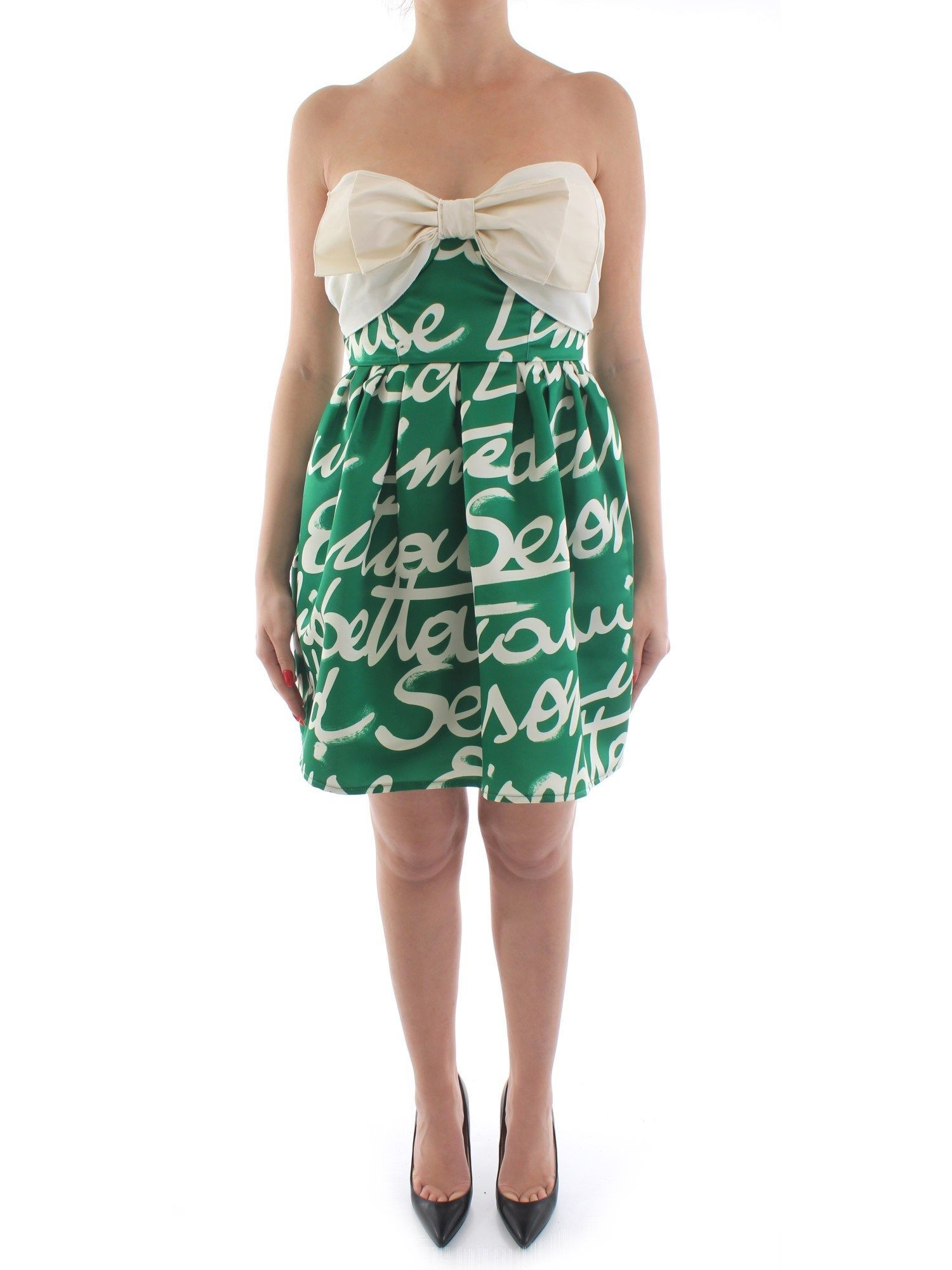 ELISABETTA FRANCHI WOMEN'S AB24702E2Y88 GREEN POLYESTER DRESS
