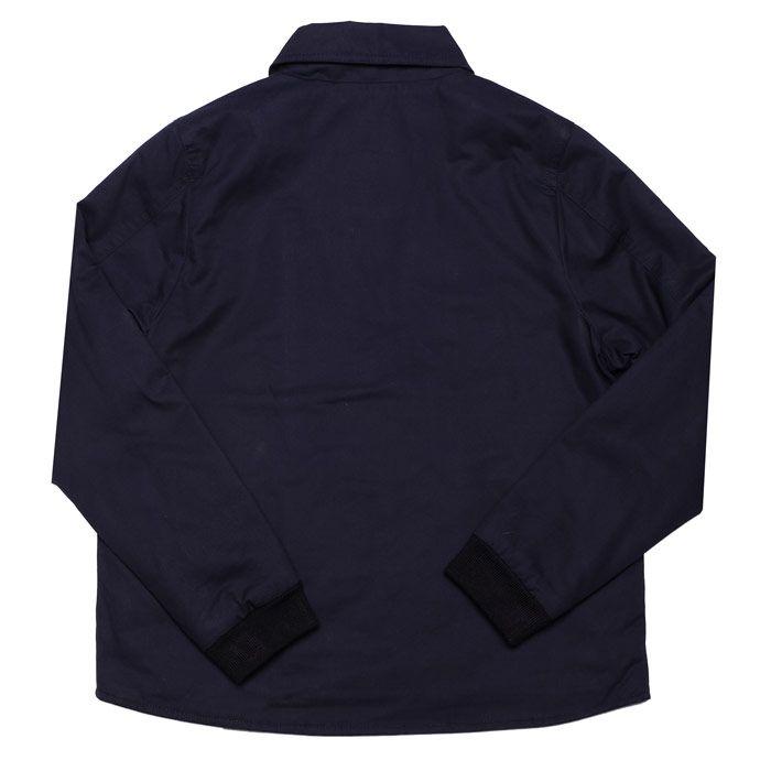 Boy's Lacoste Junior Cotton Poplin Zip Jacket in Navy