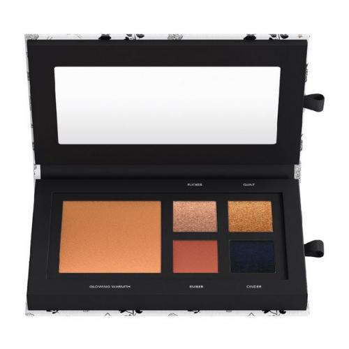 bareMinerals Warmth Eye & Cheek Palette + 3-piece Brush Set & Bag Bundle