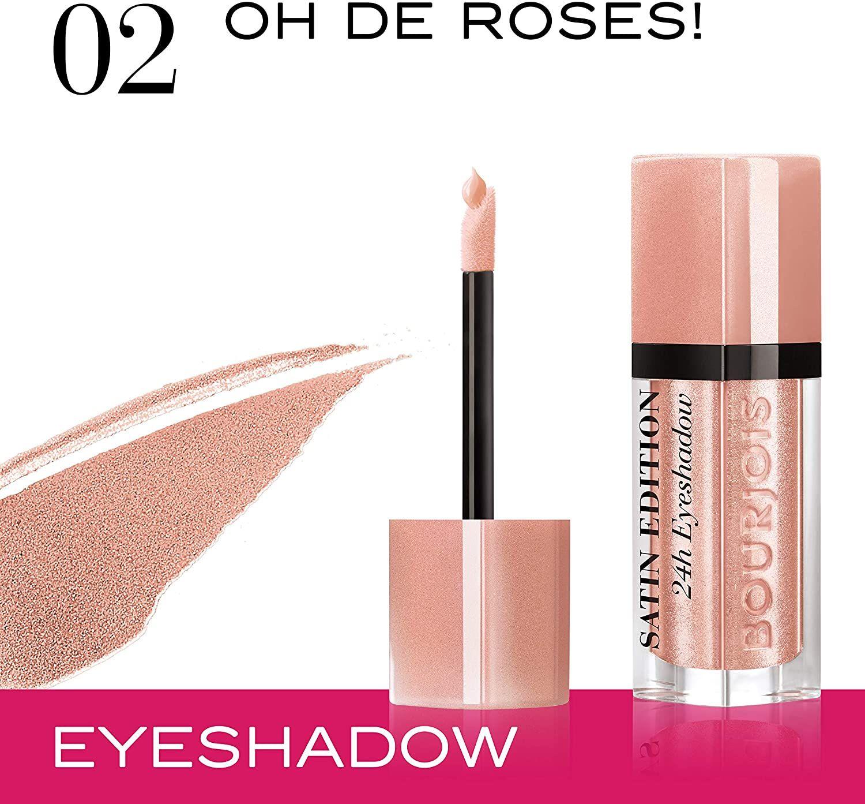 Bourjois Paris Satin Edition 24H Eyeshadow - 02 Oh De Roses