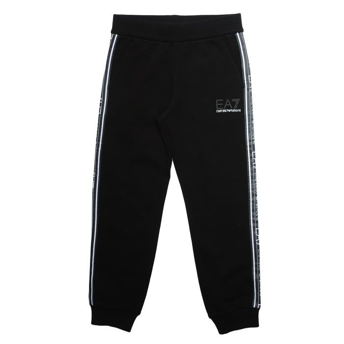 Boy's Emporio Armani EA7 Infant Jog Pants in Black