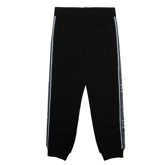 Boy's Emporio Armani EA7 Junior Jog Pants in Black