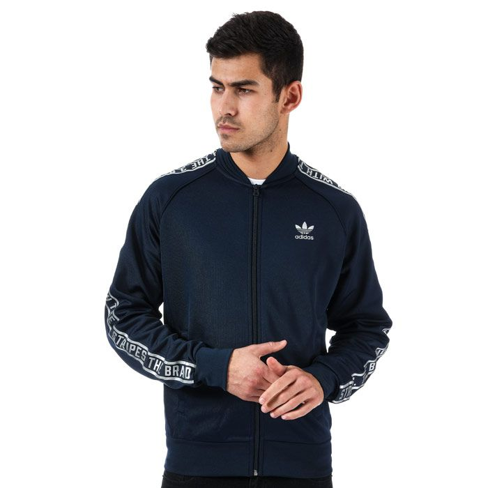 Men's adidas Originals Essentials SST Track Jacket in Navy