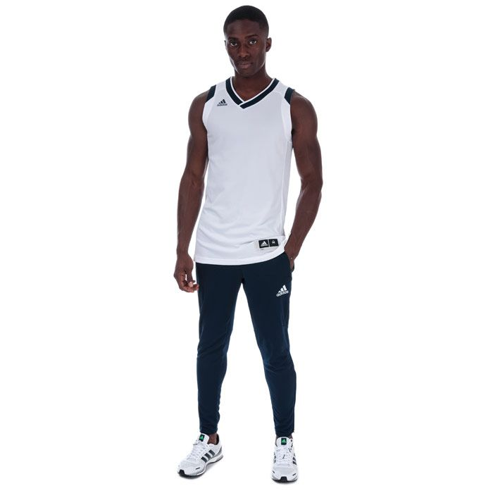 Men's adidas Crazy Explosive Jersey Vest Top in White