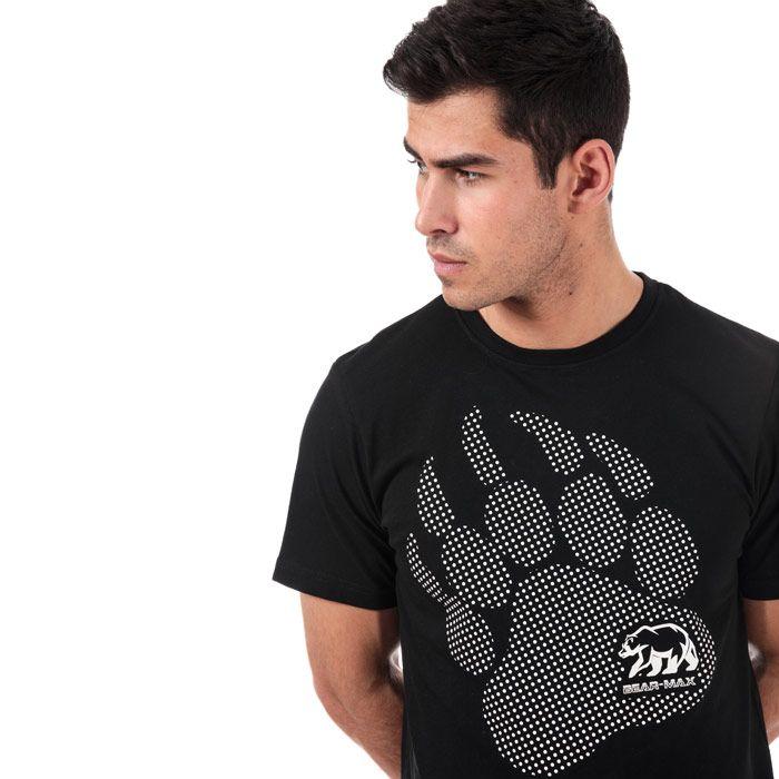 Men's Bear Max Kermode Front Graphic T-Shirt in Black