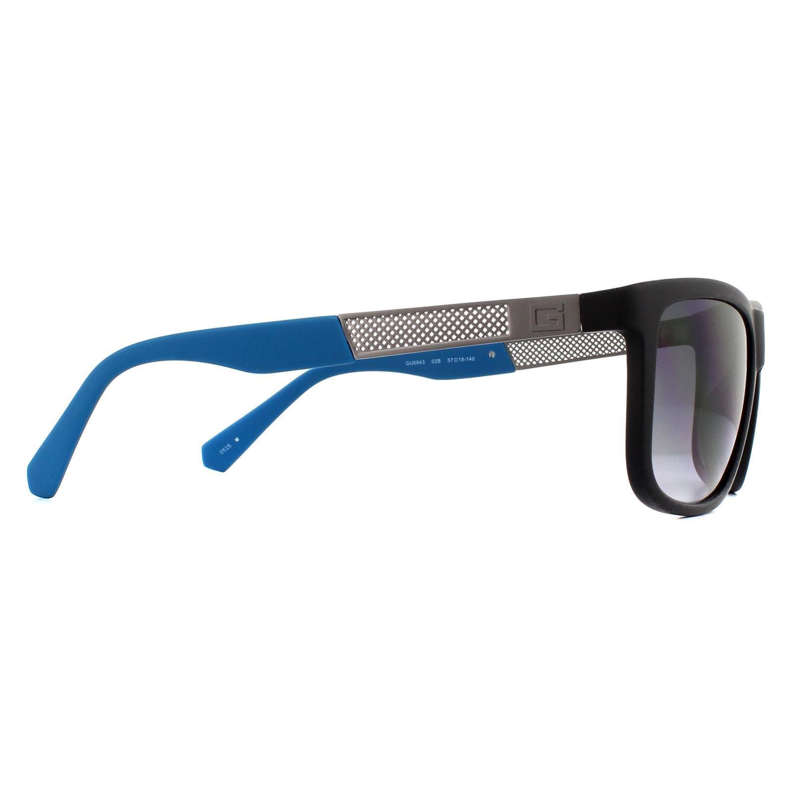 Guess Sunglasses GU6843 02B Matte Black Grey Gradient