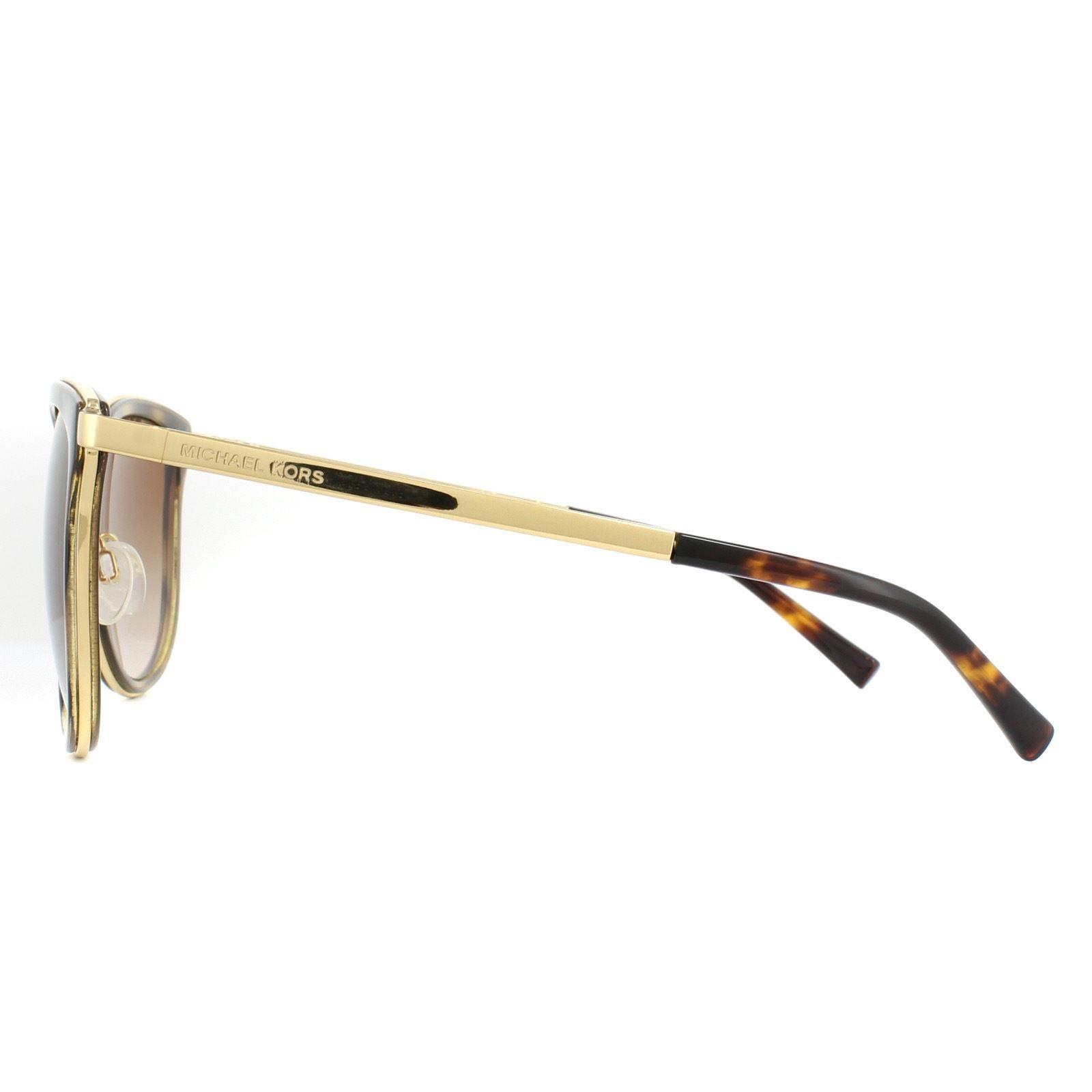 Michael Kors Sunglasses Adrianna 1 1010 110113 Dark Tortoise Gold Brown Gradient