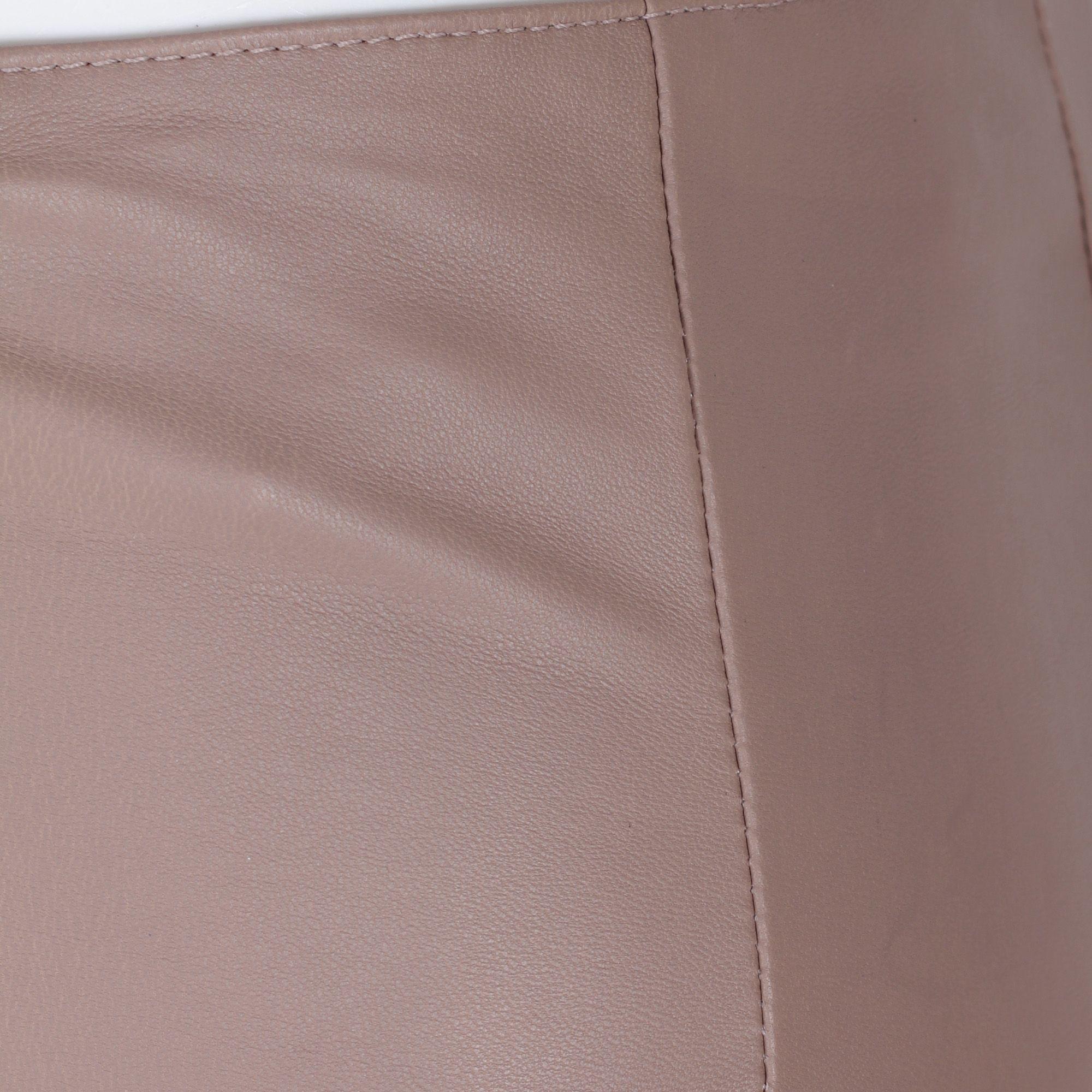 DROME WOMEN'S DPD1010PD6531123 BEIGE LEATHER PANTS