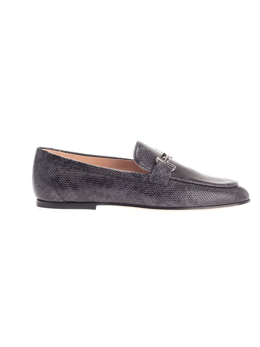 TOD'S WOMEN'S XXW79A0Z370THYB615 BLUE LEATHER LOAFERS