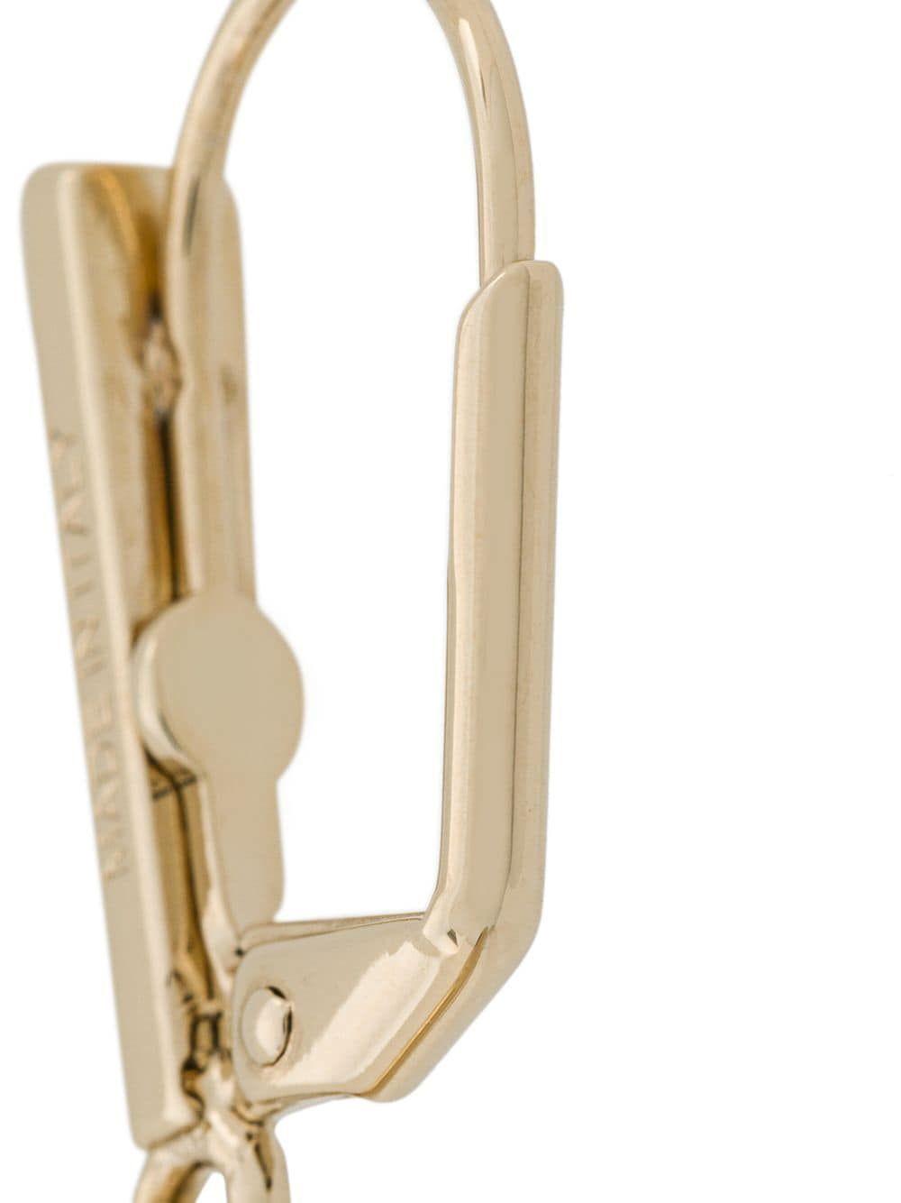 ALEXANDER MCQUEEN WOMEN'S 553659J160K7285 GOLD METAL EARRINGS