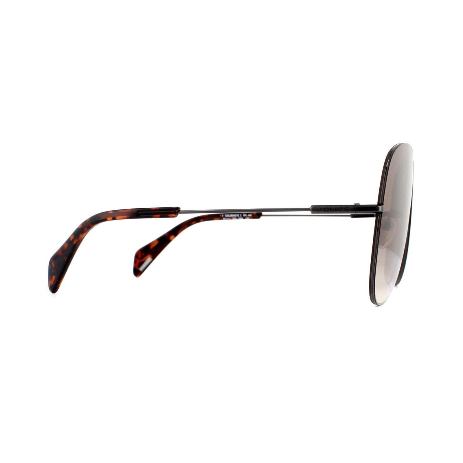 Police Sunglasses Goldeneye 3 SPL406M 0568 Shiny Gunmetal Brown Gradient