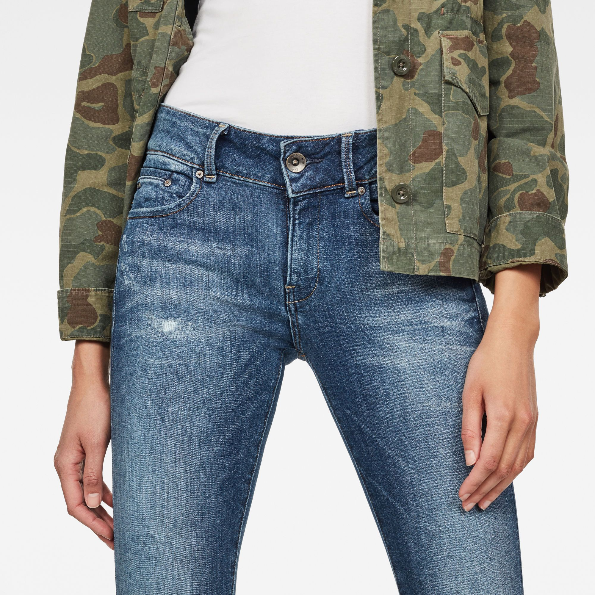 G-Star RAW Midge Cody Mid Waist Skinny Jeans