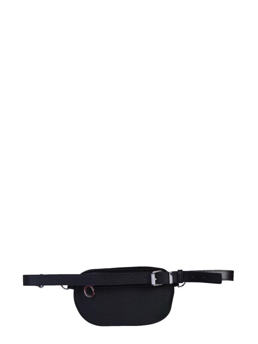 KENZO WOMEN'S FA52SA407F0199 BLACK SYNTHETIC FIBERS BELT BAG