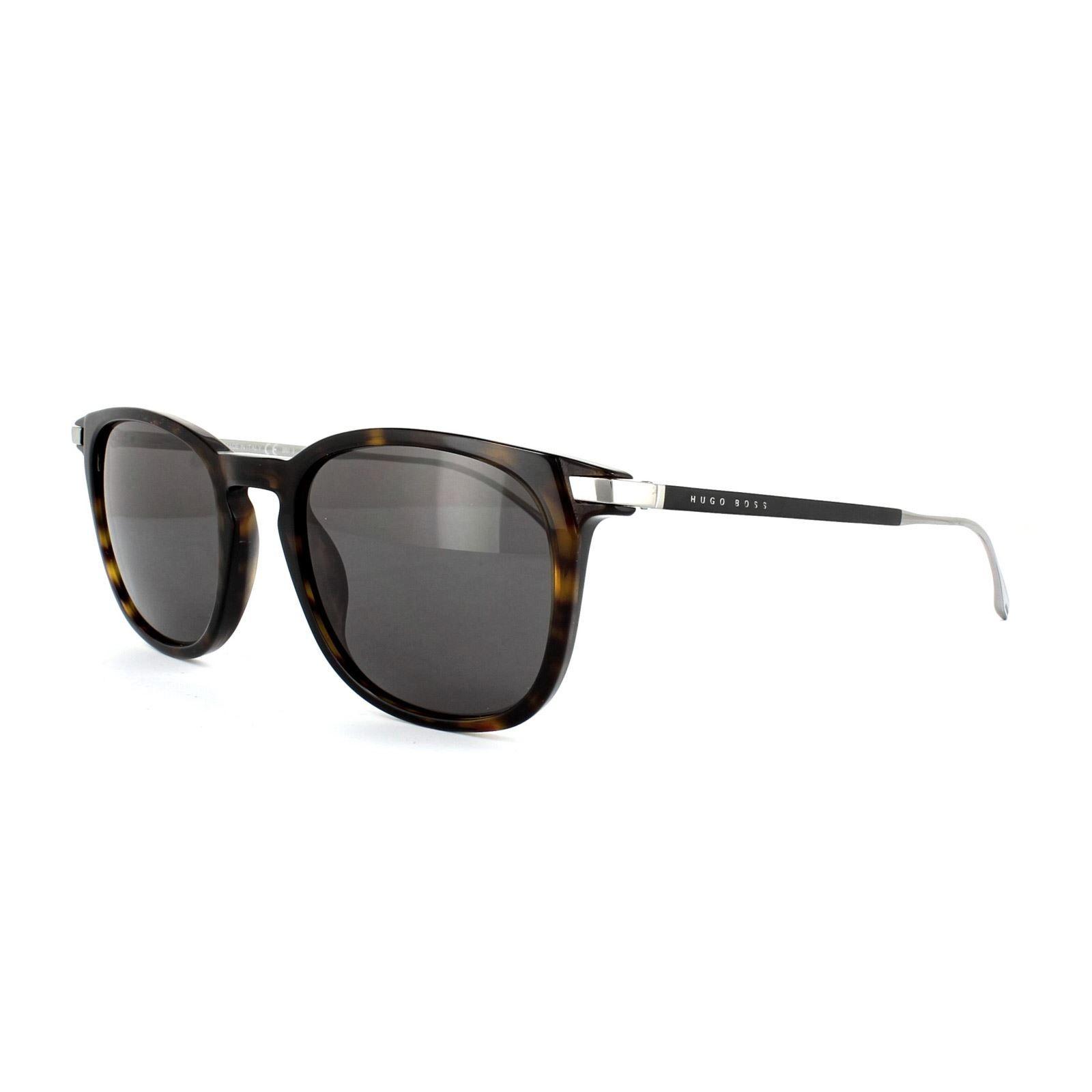 Hugo Boss Sunglasses 0783 0PC Y1 Dark Havana Matt Black Grey