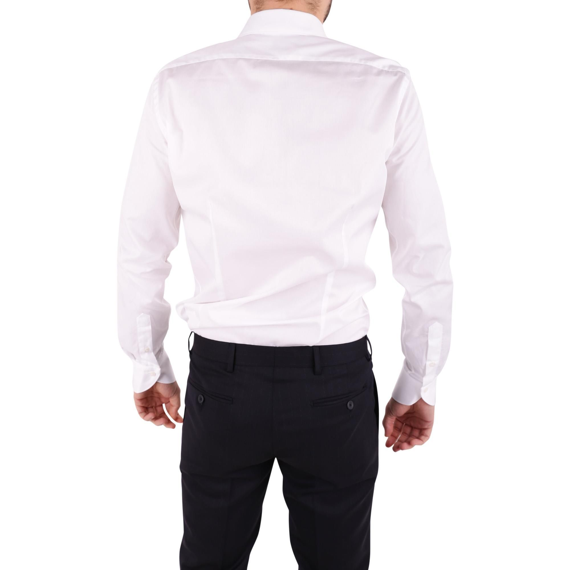 UNGARO MEN'S BTCLO10L0622001 WHITE COTTON SHIRT