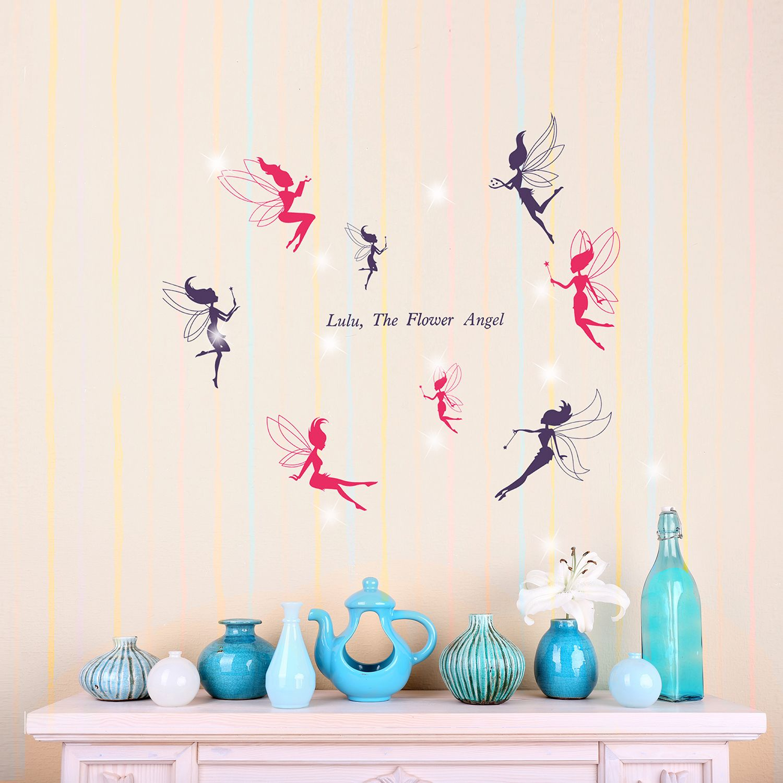 Walplus Wall Sticker Decal Wall Art Fairies with Swarovski Crystals