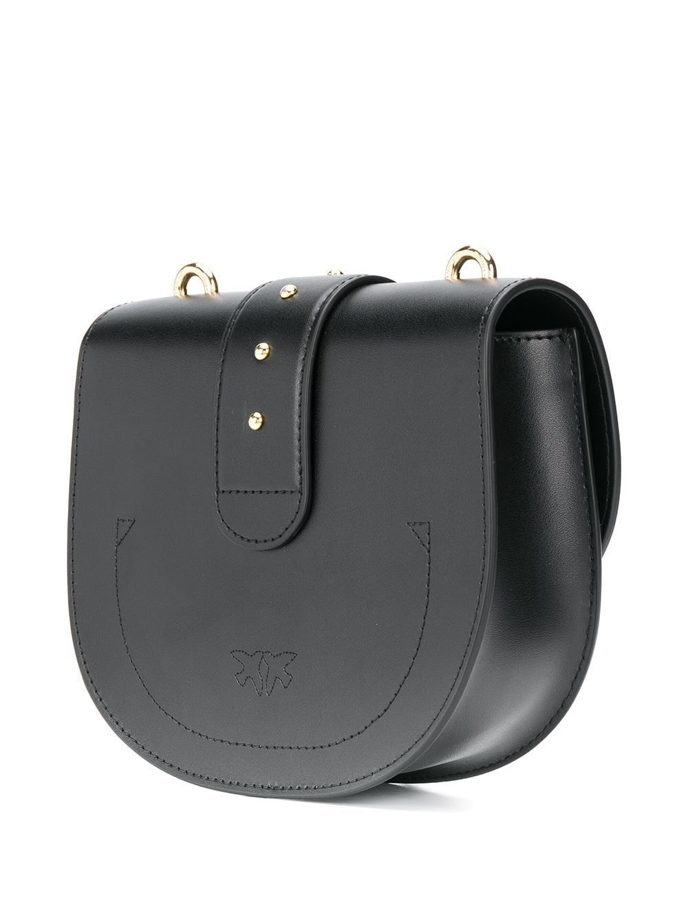 PINKO WOMEN'S 1P21KPY5FFZ99 BLACK LEATHER SHOULDER BAG