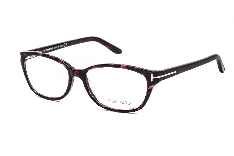 Tom Ford Rectangular acetate Women Eyeglasses Purple Tortoise / Clear Lens