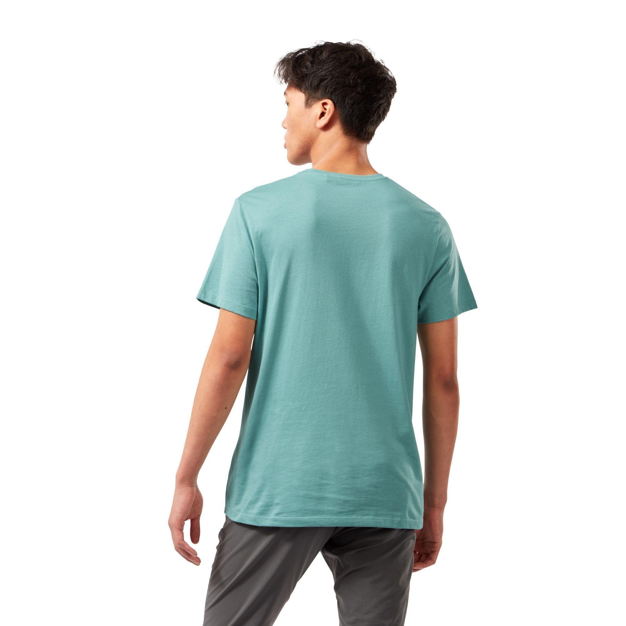 Craghoppers Mens Mightie Circle T-Shirt (Dusty Aqua)