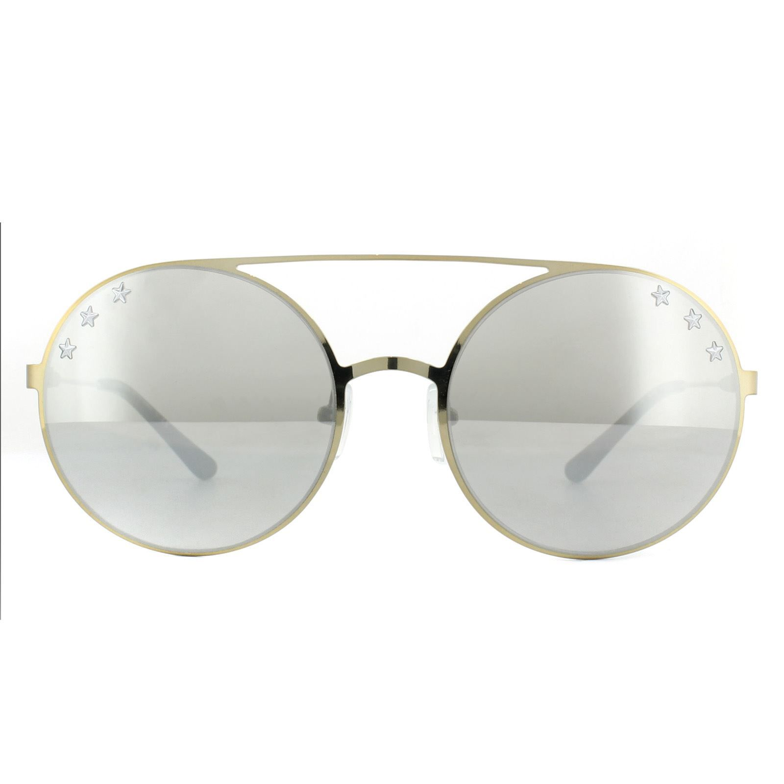 Michael Kors Sunglasses Cabo MK1027 11936G Pale Gold Tone Silver Mirror
