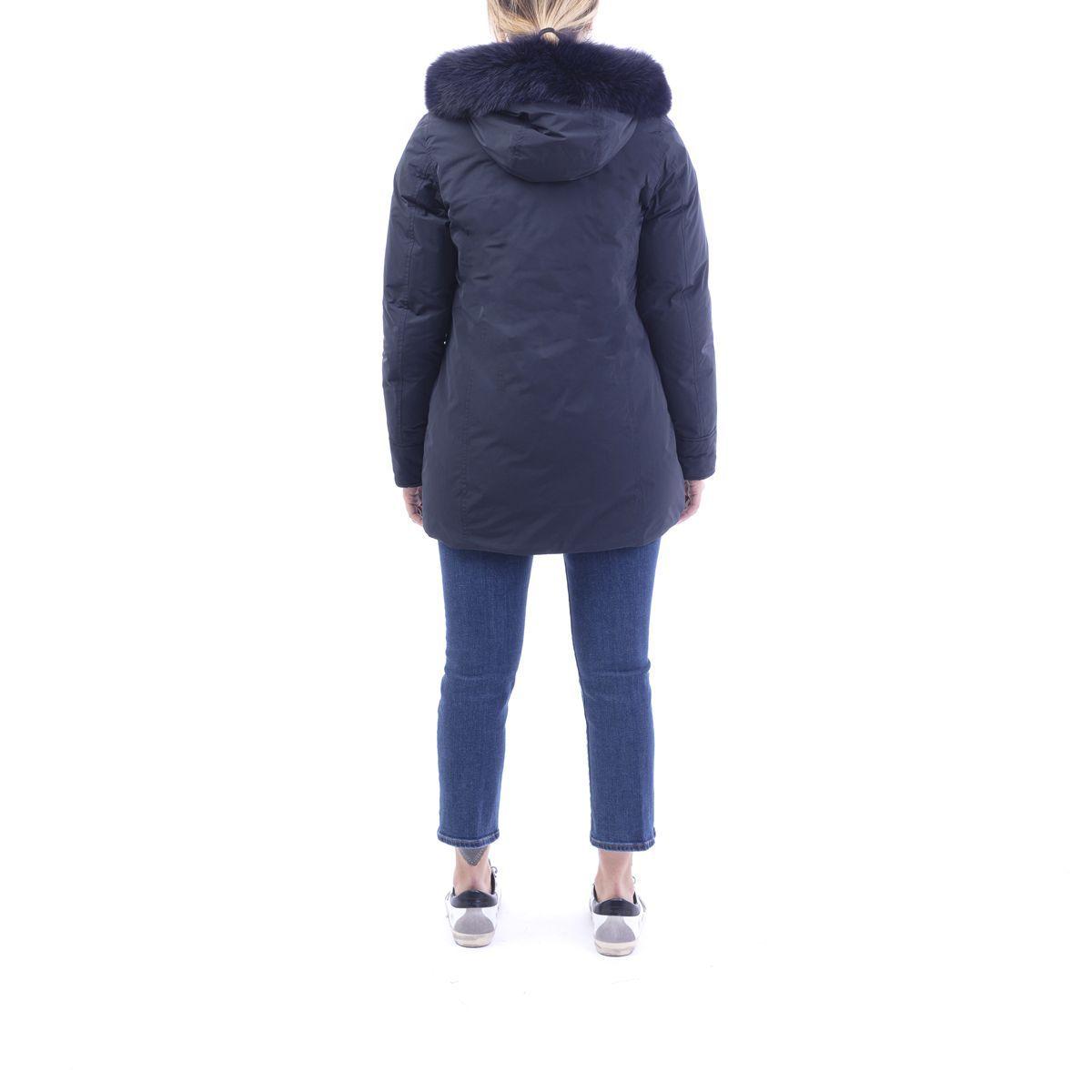 WOOLRICH WOMEN'S WWCPS2834UT0573324 BLUE POLYESTER COAT