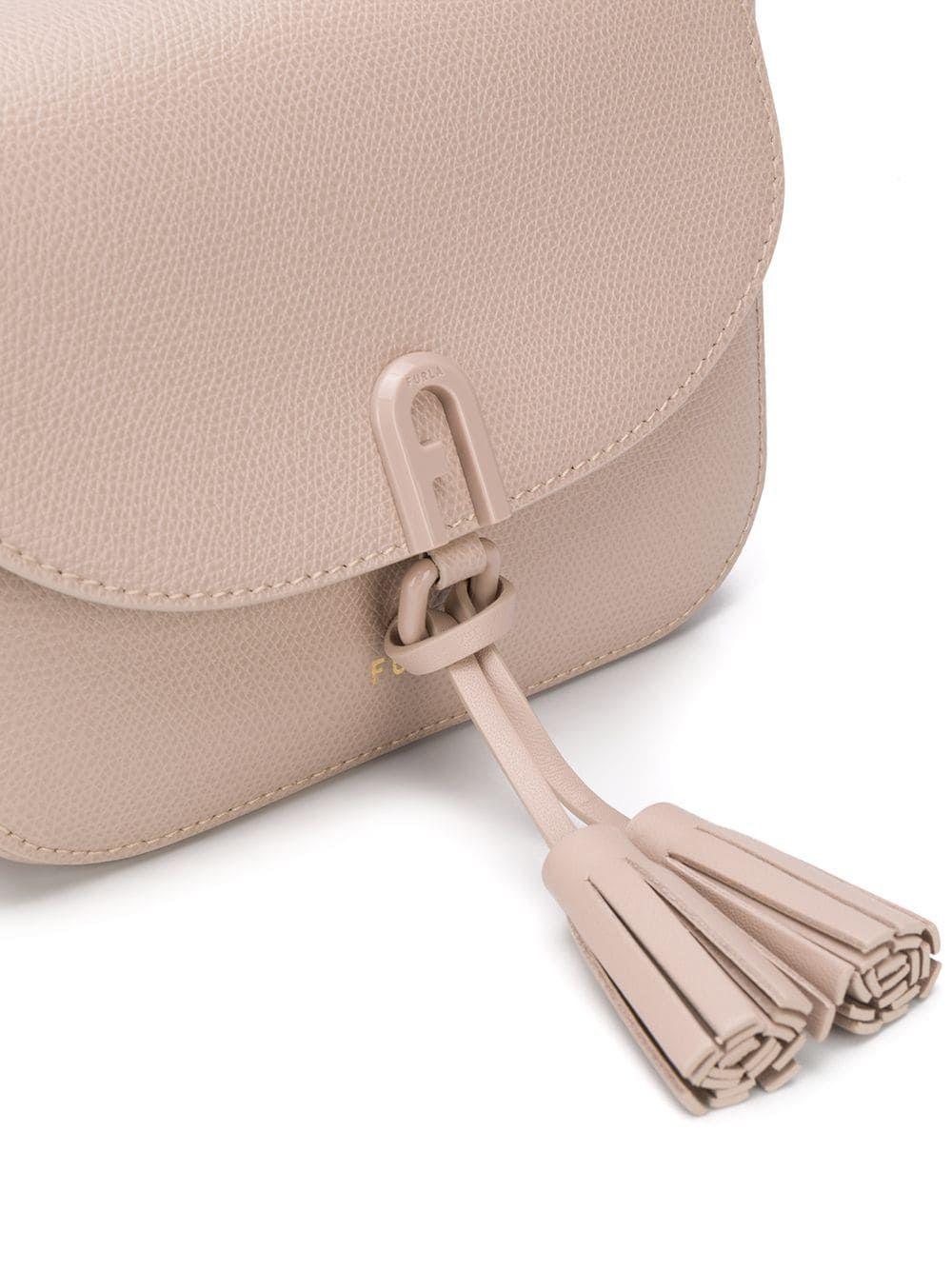 FURLA WOMEN'S 1065196 BEIGE LEATHER SHOULDER BAG